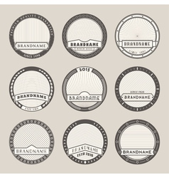 Label templates vector image vector image