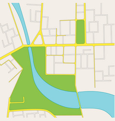 cartoon road city map of district vector image