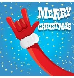Santa Claus hand rock n roll vector image vector image