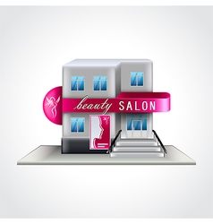 Beauty salon building isolated vector image vector image