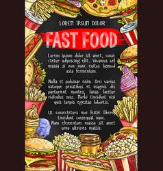 fast food menu banner design vector image