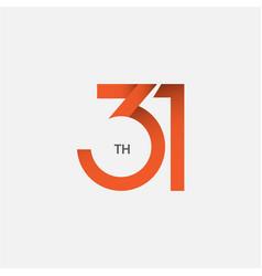 31 th anniversary template design vector