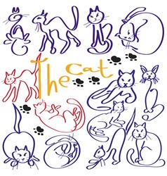 a lot of cats vector image