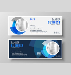 Abstract light and dark business banners vector