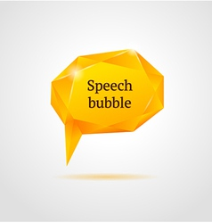 Abstract orange shiny geometric speech bubble vector