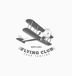 airplane logo vector image