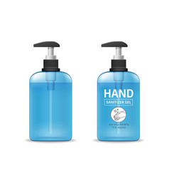 Alcohol sanitizer gel bottle template collections vector