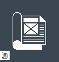 Article related glyph icon vector