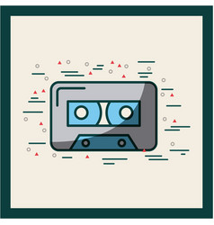 Audio cassette embellished poster vector