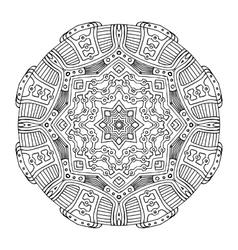 Aztec frog mandala vector