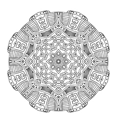 Aztec frog mandala vector image