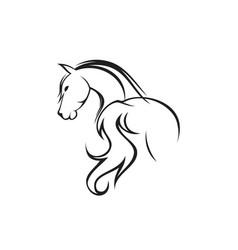 Back horse vector