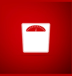 bathroom scales icon isolated on red background vector image
