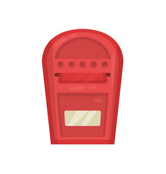 Bright red wall mounted metal mailbox metal vector