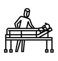Bring to hospital icon symbol activity vector