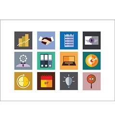 Business Color Flat Icons vector