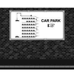Car Park advertising board vector