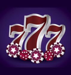 casino concept design vector image