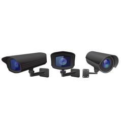 cctv security camera black surveillance devices vector image