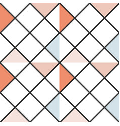 checkered abstract colored triangles seamless vector image