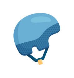 Close-up view of a warm blue ski helmet vector