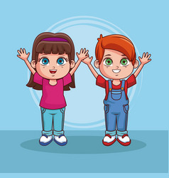 cute kids cartoons vector image