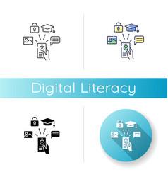Digital literacy icon vector