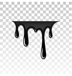 Drip paint 3d ink stain drop melt liquid vector