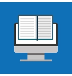 Education online global e-book vector