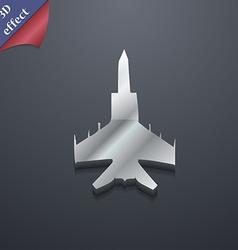 Fighter icon symbol 3D style Trendy modern design vector