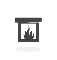fireplace icon logo on white background vector image