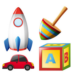 four types of toys vector image
