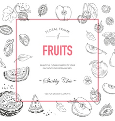 Fruit Frame Invitation Card Wedding Card vector