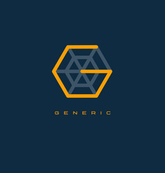 generics logo g monogram or letter vector image