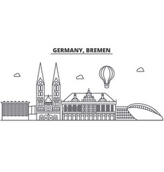 Germany bremen architecture line skyline vector