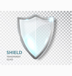 Glass shield sign security glass label privacy vector