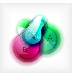 Glossy colorful abstract bubble template vector image