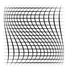 Grid mesh lattice with distortion warp effect vector