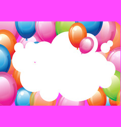 happiness birth day backdrop with multicolor air vector image