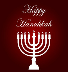 happy hanukkah card template vector image