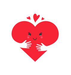 heart in love concept cute heart character vector image