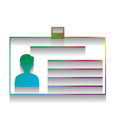 identification card sign colorful icon vector image
