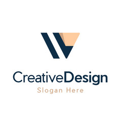 Letter v pencil equipment creative logo vector