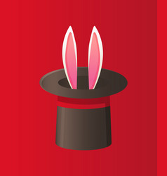 Magical performance with rabbit illusion vector