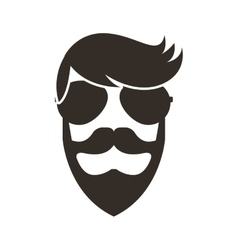Man character style hipster vector