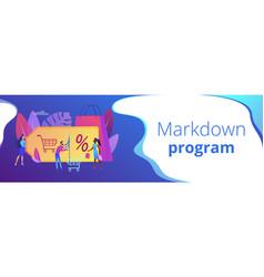 Markdown program concept banner header vector