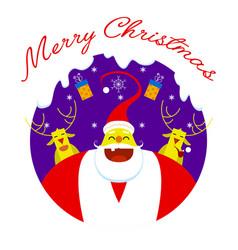 merry christmas symbol santa claus vector image