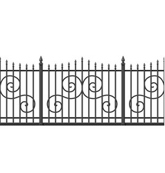 Metal forged fence vector