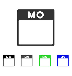 Monday calendar page flat icon vector
