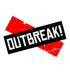 Outbreak attention sign vector